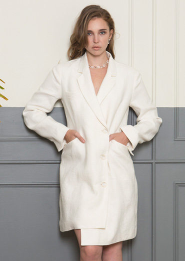 LINEN SLEEK JACKET DRESS