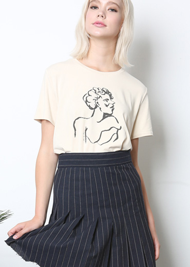LADY MUSE MODAL T-SHIRT [IVORY]