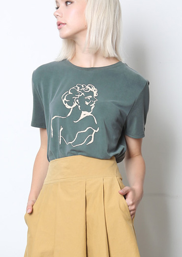 LADY MUSE MODAL T-SHIRT [GREEN]
