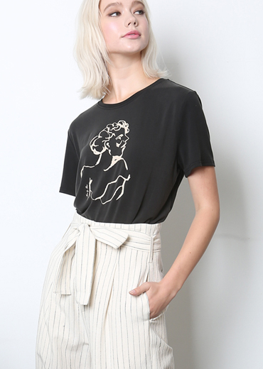 LADY MUSE MODAL T-SHIRT [BLACK]