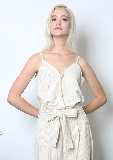 FRINGE STRIPED CAMISOLE