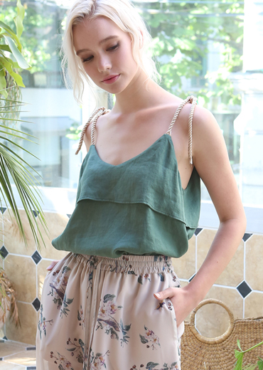 BOHO ROPE STRING CAMISOLE [GREEN]