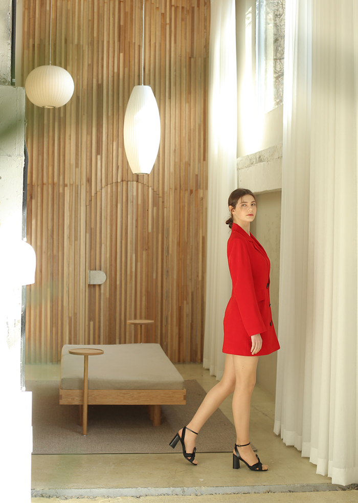 JACKET MINI DRESS(RED)